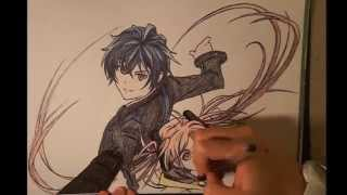 A speed drawing of Rentaro & Enju from Black Bullet :) Ran out of space for the gun, my bad ^_^