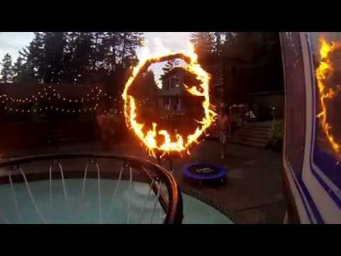 pool dunk into the ring of fire