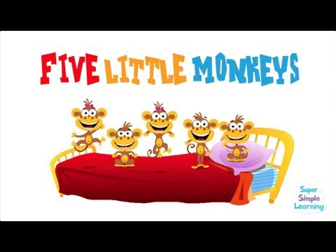 Monkey - Original music for a classic children's rhyme. Free flashcards and more at: http://supersimplelearning.com/songs/original-series/one/five-little-monkeys/ Joi...