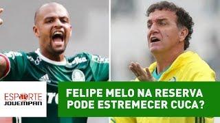 Felipe Melo foi reserva de Thiago Santos na partida contra o Atlético-MG, no Allianz Parque. Manter essa decisão pode causar problemas ao técnico Cuca no Pal...