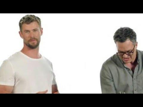 Chris Hemsworth & Mark Ruffalo Carv Pumpkins! 😂 [Thor Ragnarock]