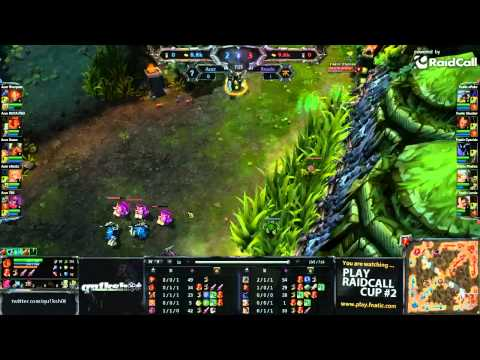 RaidCall LoL #2: FnaticRC vs Acer map 2