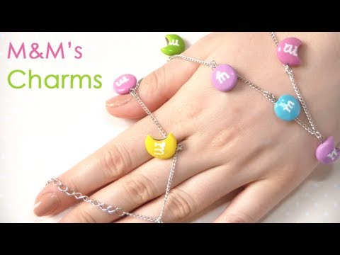tutorial fimo - m&m's charms