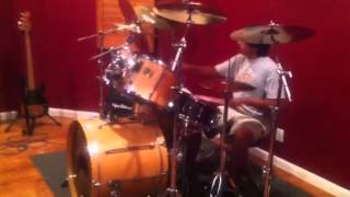 Anthony Lucero jamming with Nicko McBrain of Iron Maiden