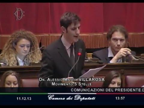 """Intervento epico di Alessio Villarosa (M5S): """"In 8 anni avete mangiato 556 miliardi!"""" – 11/12/13"""
