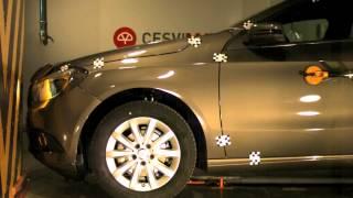 Crash test delantero Mercedes Clase A en CESVIMAP