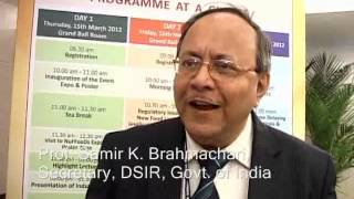 Prof.Samir K.Brahmachari congratulates MM Activ, the brainchild behind Nutra India Summit