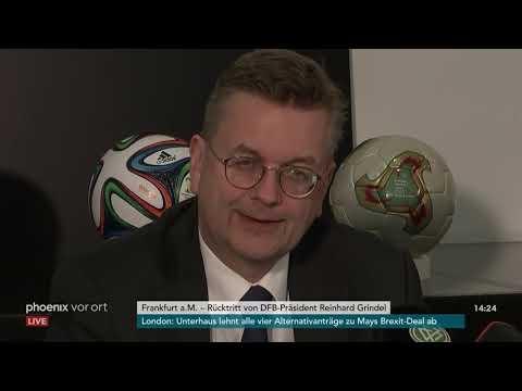 Rücktrittserklärung des DFB-Präsidenten Reinhard Grin ...