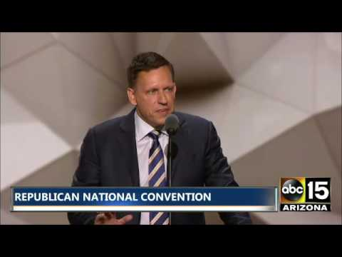 FULL SPEECH: Peter Thiel / First Investor in Facebook - Republican National Convention