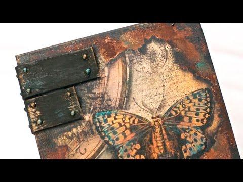 decoupage - scatola invecchiata con farfalle