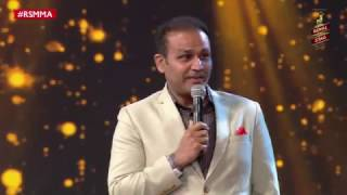 Sehwag reveals the song he sang while making 319 at the Royal Stag Mirchi Music Awards| #RSMMA