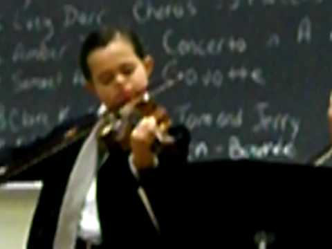 Watch video Down Syndrome: Emmanuel Bishop Violin Recital 2
