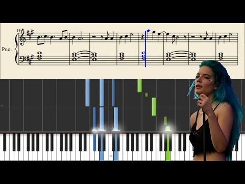 Halsey - Is There Somewhere - Piano Tutorial + Sheets