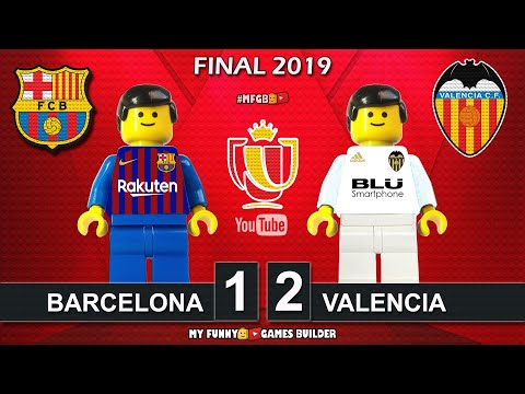 Copa Del Rey Final 2019 • Barcelona Vs Valencia 1-2 • All Goals Highlights LEGO Football Stop Motion