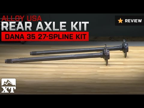 Jeep Wrangler Alloy USA Rear Axle Kit Dana 35 27-Spline Kit (1990-2002 YJ, TJ) Review