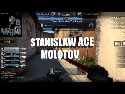 Stanislaw ace with molotov versus Navi (CSGO)
