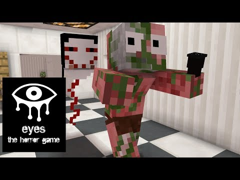 Monster School: EYES THE HORROR GAME CHALLENGE - Minecraft Animation (видео)