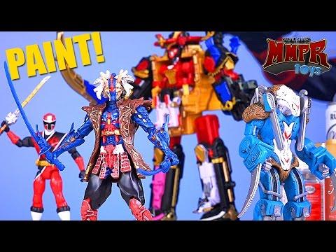 Power Rangers Ninja Steel PAINT Your Zords & Figures! (How to)