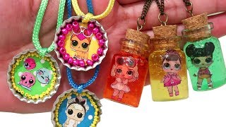 SWTAD DIY Slime Jewelry ! Toys and Dolls Fun for Kids with LOL Surprise Blind Bags