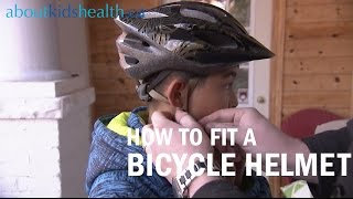 How to fit a bicycle helmet on your child