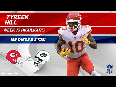 Video: Tyreek Hill Breaks Out w/ 185 Yards & 2 TDs vs. NY! | Chiefs vs. Jets | Wk 13 Player Highlights