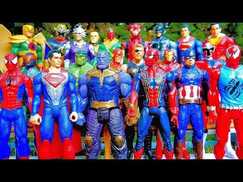 Thanos vs Avengers + Superman, Thor, Spiderman, Captain America, Batman - Marvel vs DC Full Fight!