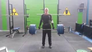 Powerlifting 6. 145 kg trapbar deadlift for 6 reps