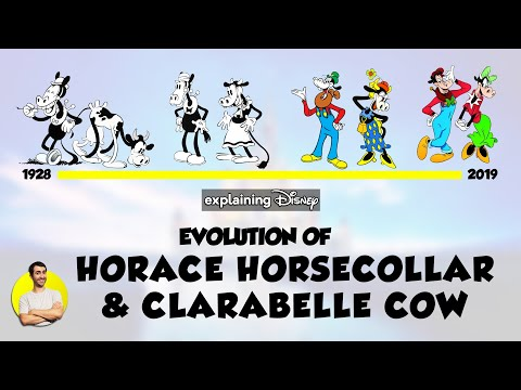 Evolution of HORACE HORSECOLLAR & CLARABELLE COW Over 91 Years (1928-2019) Explained