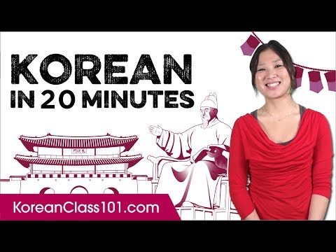 Learn Korean in 20 Minutes - ALL the Basics You Need