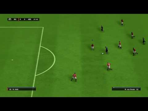 FIFA 10 PC Full - Manchester United vs Arsenal Gameplay [HD]