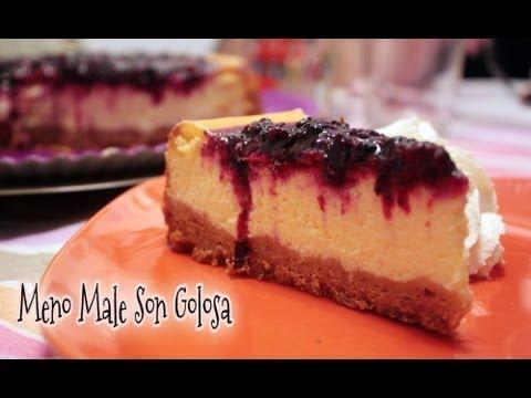 cheesecake ai frutti di bosco - ricetta