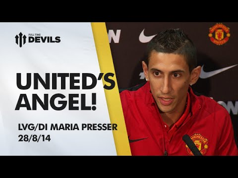 angel - Louis van Gaal introduces record transfer signing Angel Di Maria who says he's here to help make United great again. Subscribe, FREE, for more MUFC: http://bit.ly/DEVILSsub About FullTimeDEVILS:...