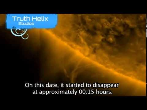 ufo avvistato vicino al sole