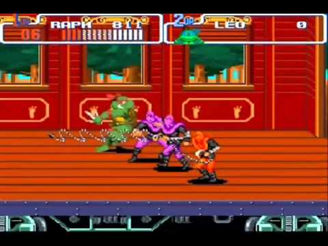 Snes - Teenage Mutant Ninja Turtles IV Hard mode Walkthrough complete