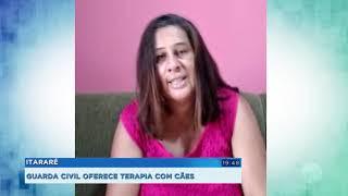 Guarda Civil oferece terapia com cães para crianças e adolescentes em Itararé
