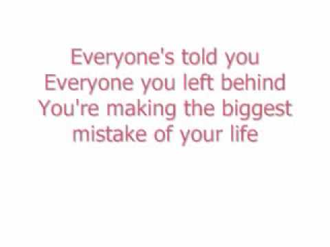 New Found Glory - Your Biggest Mistake lyrics