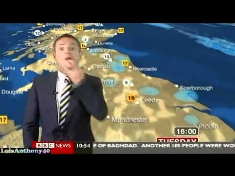 SHAVING WITH HAND REMIX - Weather Man Middle Finger BBC Fail