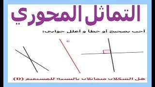 الرياضيات السادسة إبتدائي - التماثل المحوري تمرين 3