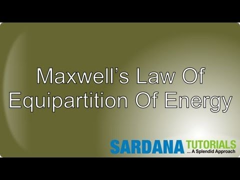 Maxwell's Law Of Equipartition Of Energy