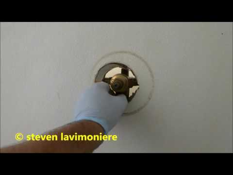 tub/ shower valve repair, no water coming out