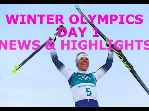 Winter Olympics Day 1- News and Highlights (видео)