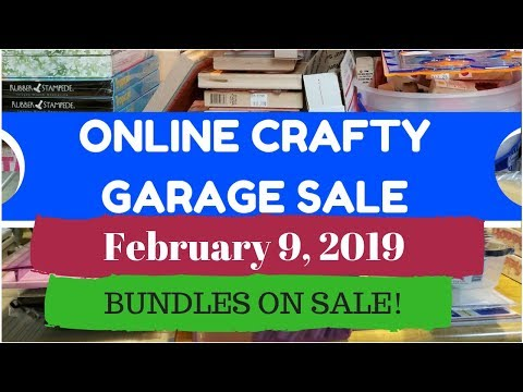 Online Crafty Garage Sale / BUNDLES SALE!