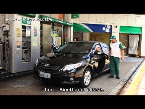 s01e08 Ethanol fuel station and Ethanol fuel car in Brazil