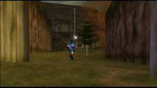 this is an old glitch of link running with the Iron Boots.