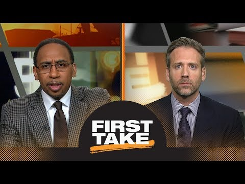 Stephen A. and Max react to Warriors defeating Rockets in Game 3 | First Take | ESPN (видео)