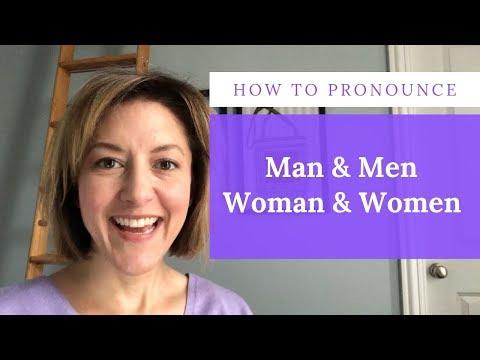 How to Pronounce MAN, MEN, WOMAN, WOMEN -English Pronunciation Lesson