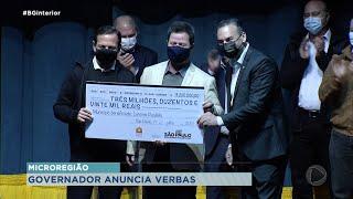 Governador João Dória anuncia investimentos na região