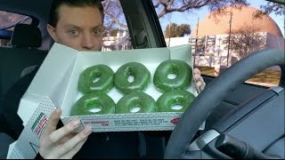 Video Krispy Kreme St. Patrick's Day Green Original Glazed Doughnut -  Review MP3, 3GP, MP4, WEBM, AVI, FLV Maret 2018
