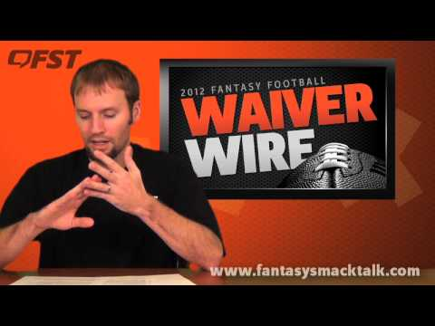 2012 Fantasy Football – Week 15 Waiver Wire Pick Ups