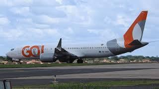Decolagem do Boeing 737 MAX 8 PR-XMA   TERESINA / BRASILIA